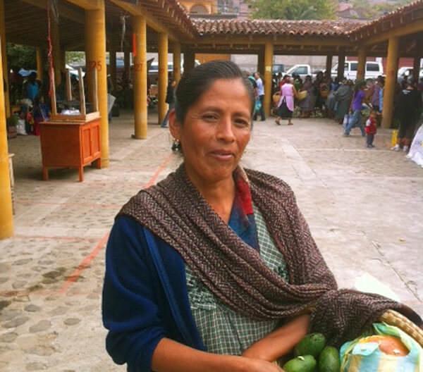 Crispina In Teotitlan Market
