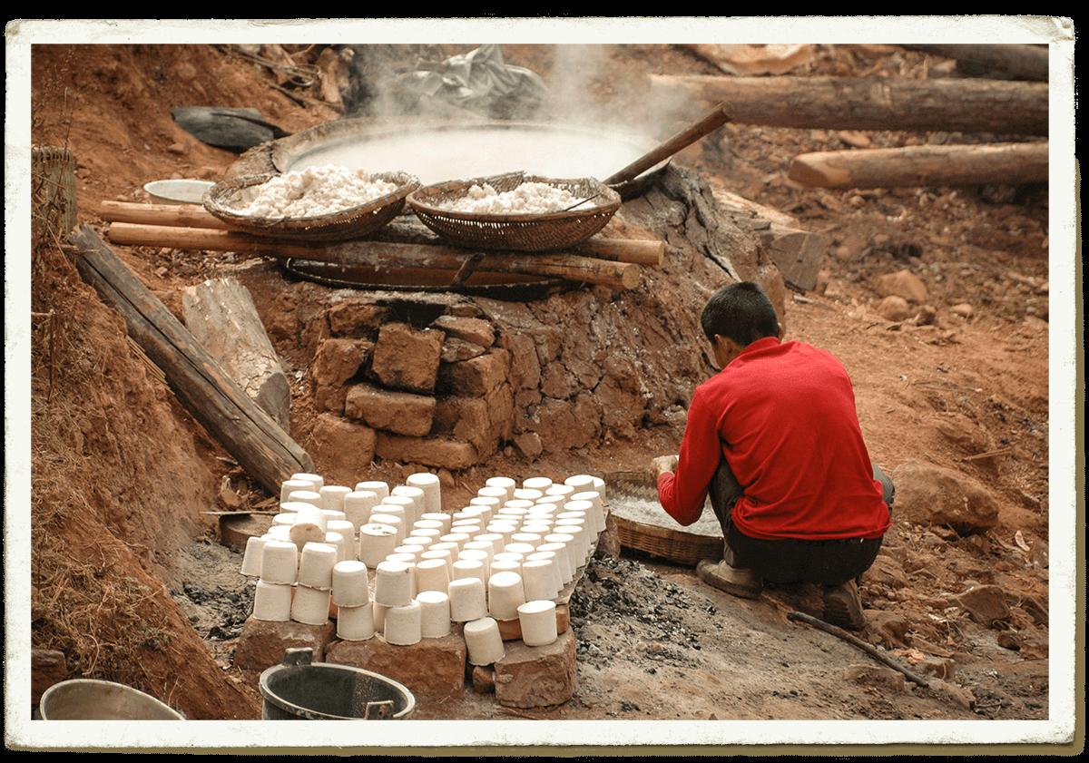 Carte Postale: Le sel du village de Nuodeng