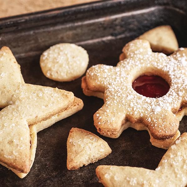Linzer Augen - Biscuits framboise noisette