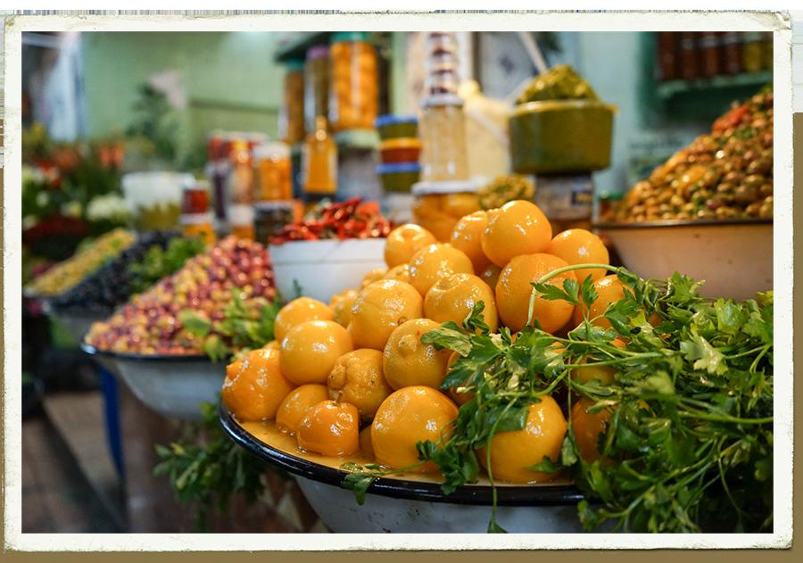 Carte postale - Les citron confits de Marrakech