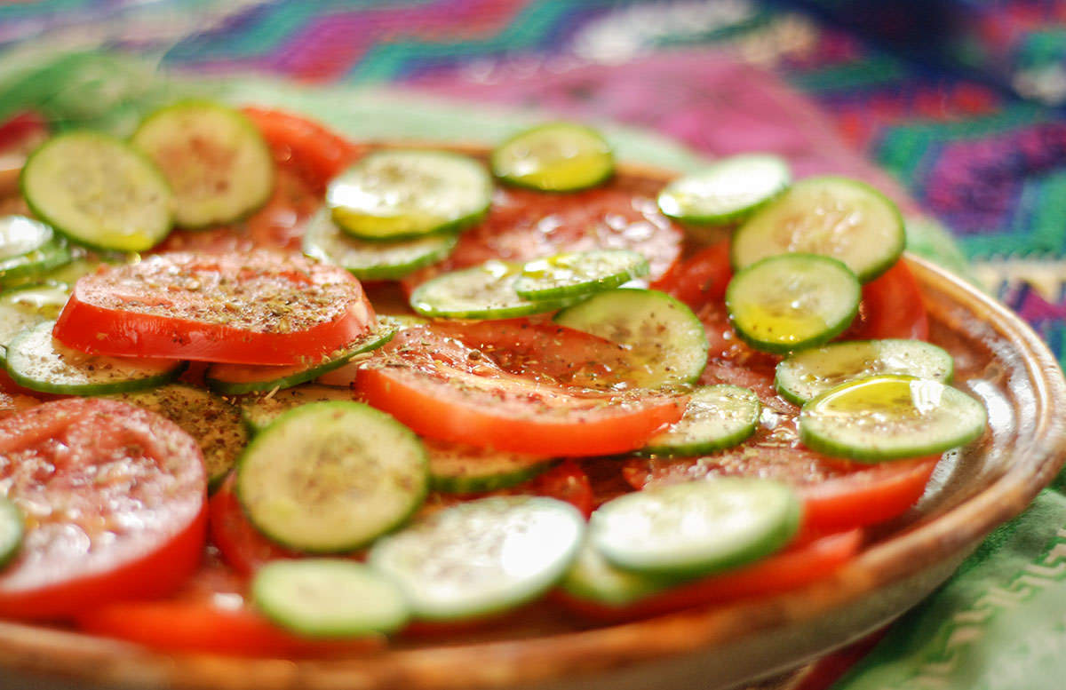 Tomates Concombre Zaatar