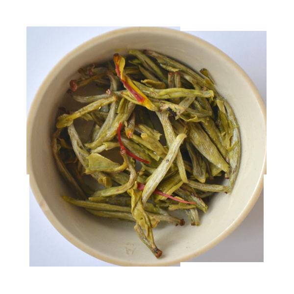 Thé blanc safran - Feuilles infusées