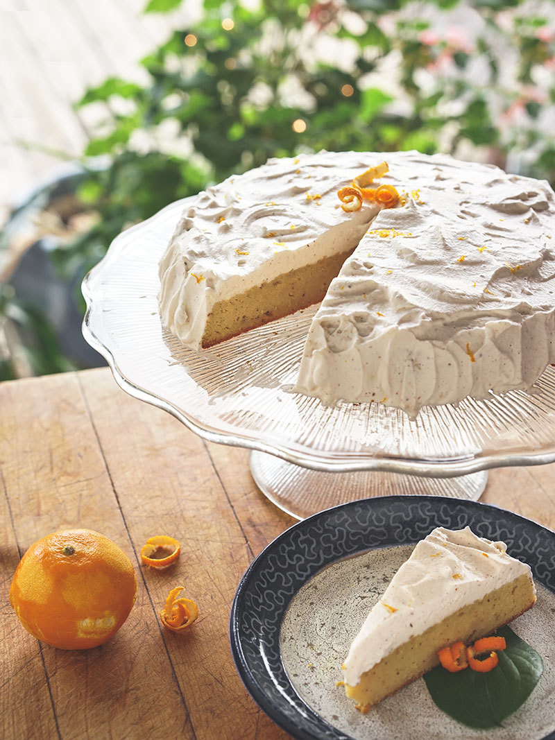 Gâteau aux amandes, clémentines et épices