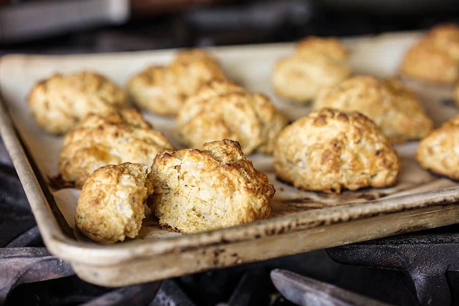 «Biscuits» au fromage et aux épices East Coast