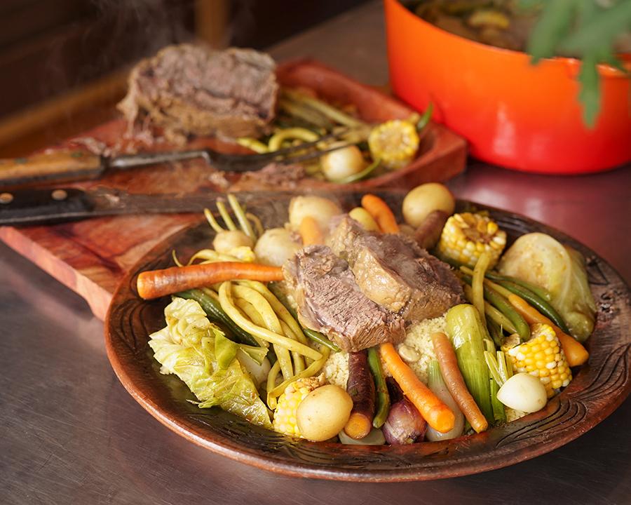 Bouilli de légumes aux épices à couscous