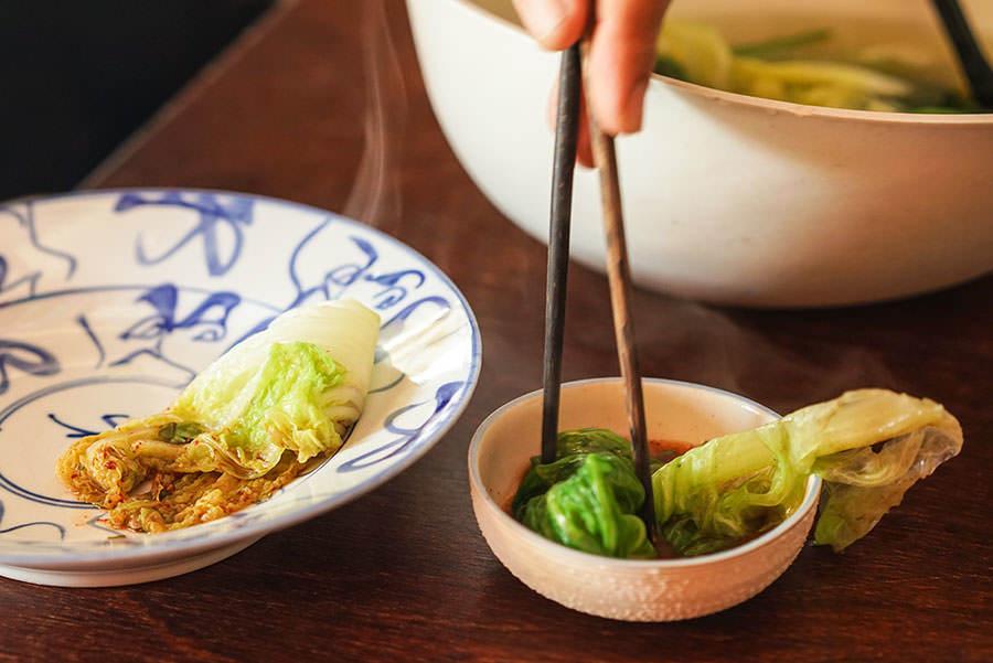 Légumes verts du Yunnan au bouillon