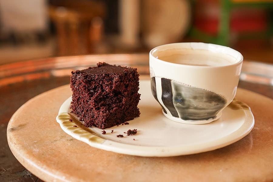 Cake choco café cardamome