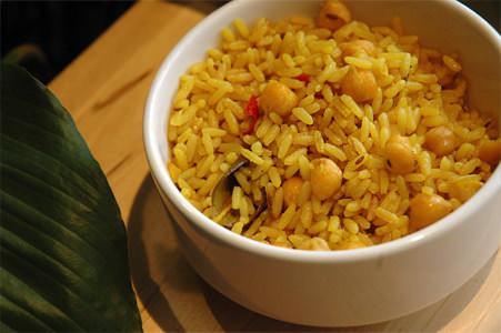 Chana Jeera Palau - Pilaf de riz aux pois chiches