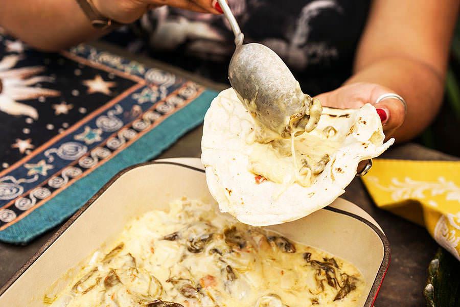 Chile con queso au piment pasado