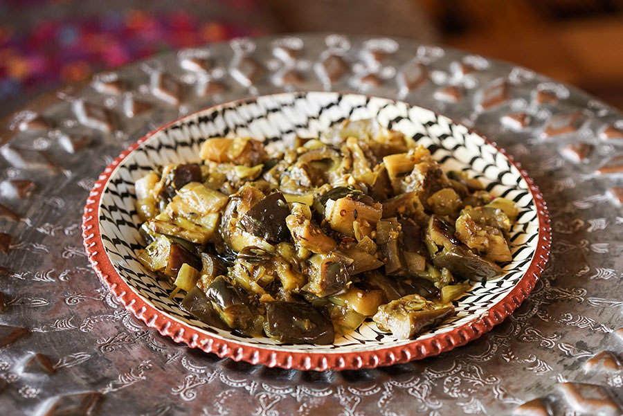 Chokha d'aubergine