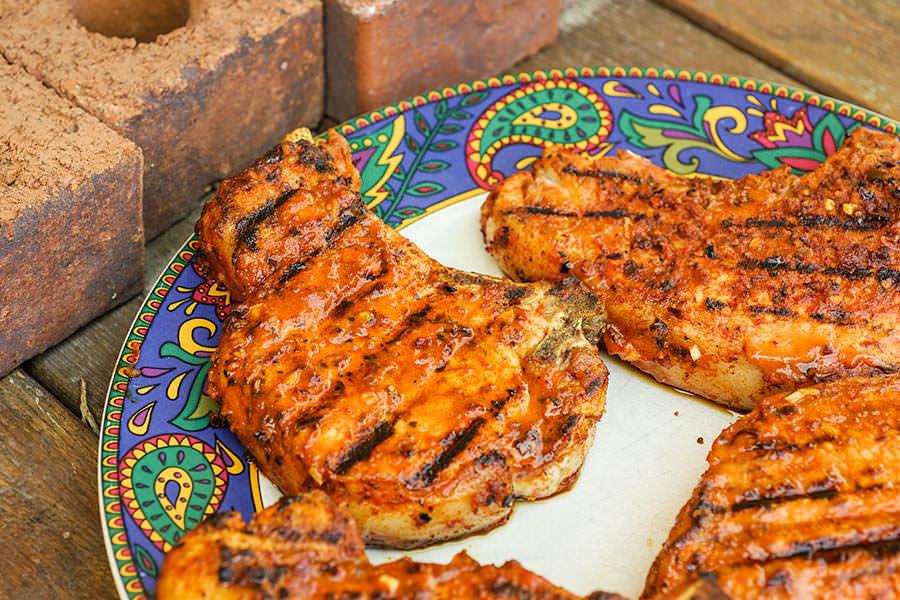 Côtelettes de porc BBQ cajun
