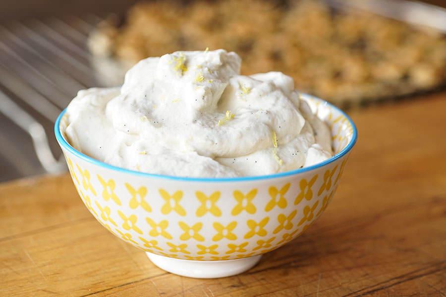 Crème fouettée citron et vanille