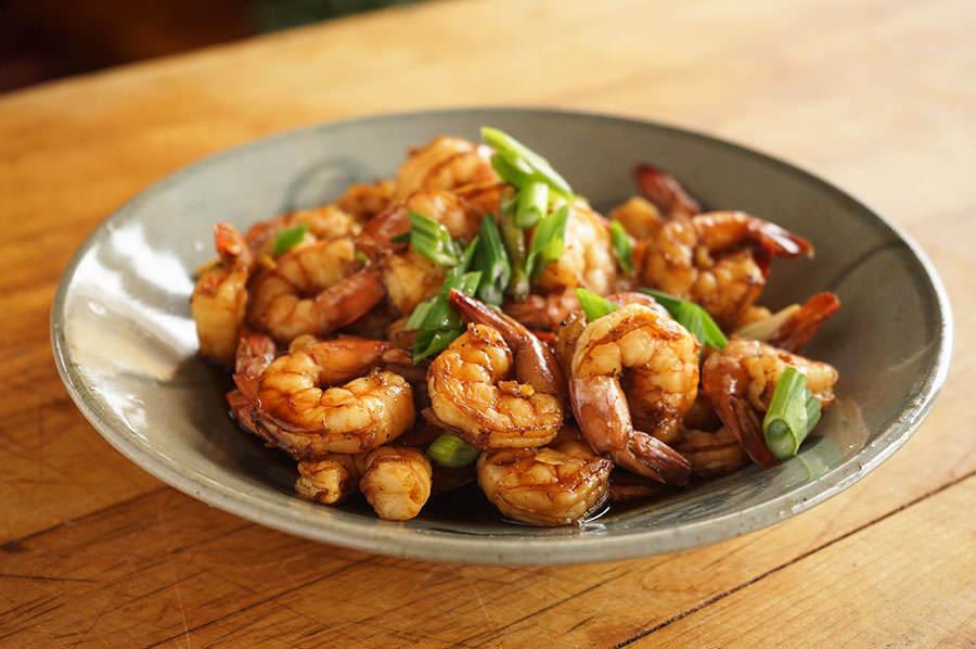 Crevettes au gingembre à la vapeur