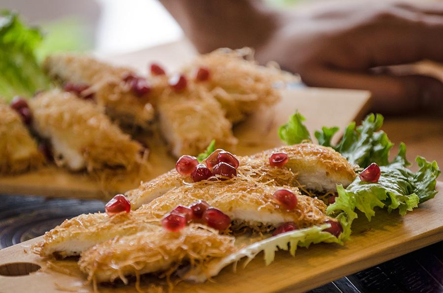 Crispy Kataifi Chicken Schnitzels