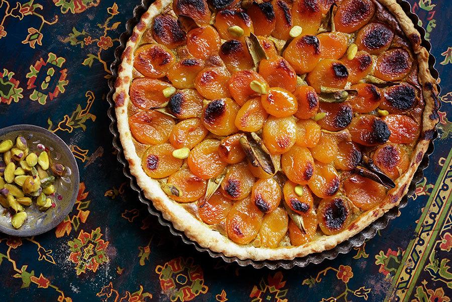 Tarte aux abricots secs et pistaches
