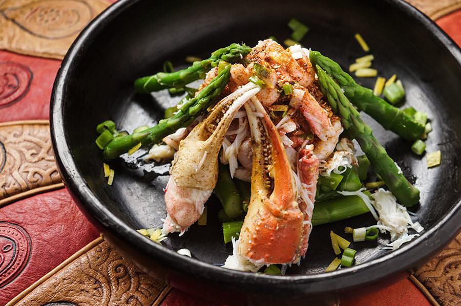 Salade de crabe et asperges East Coast