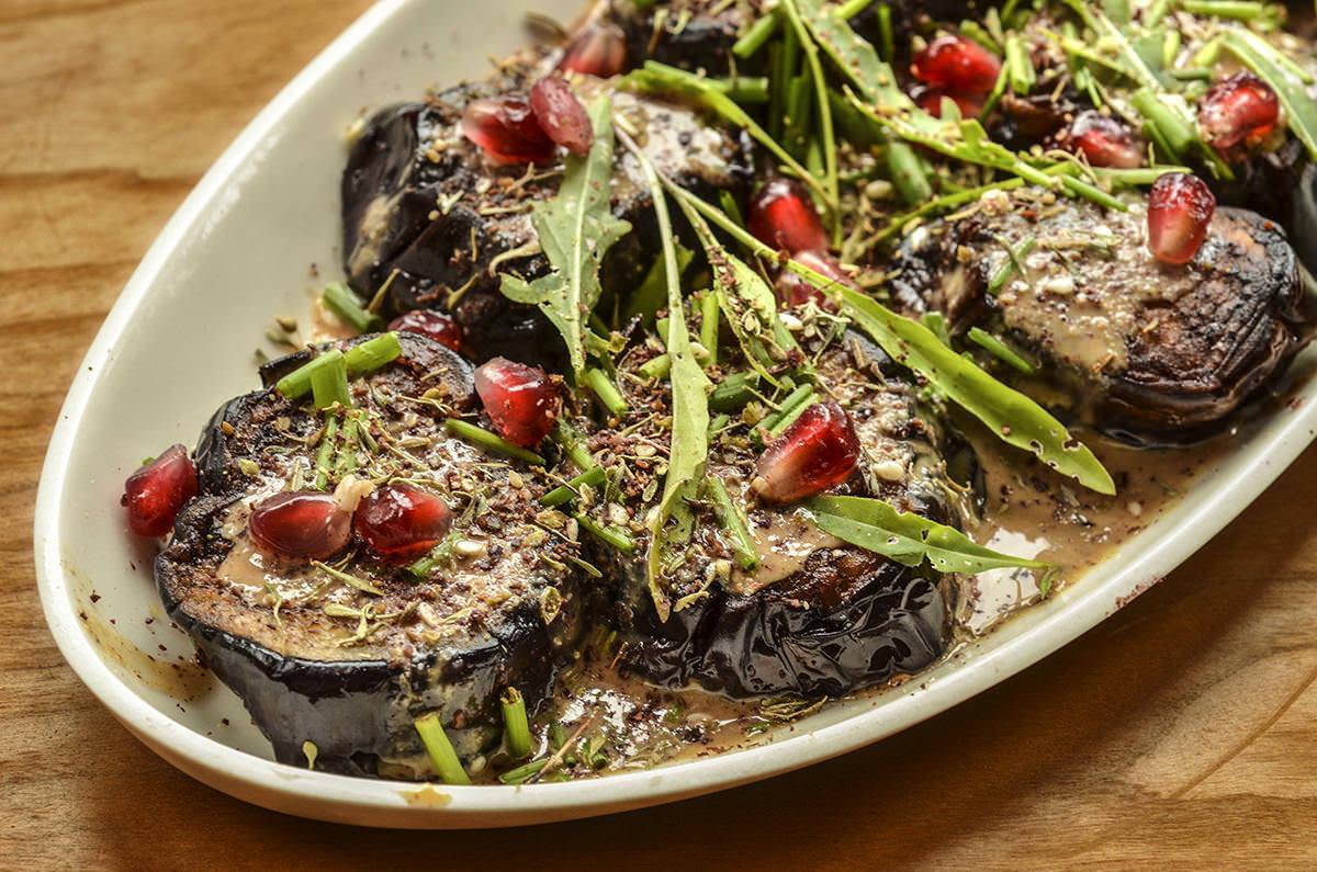 Salade d'aubergines au zaatar