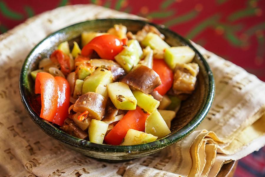 Légumes sautés à l'éthiopienne