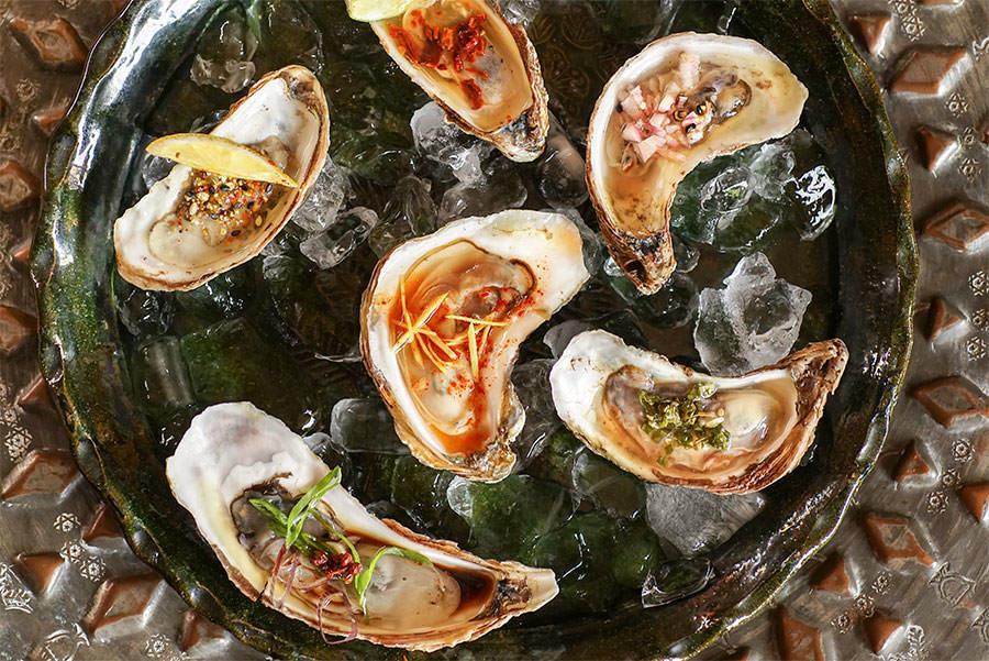 Garnitures pour les huîtres