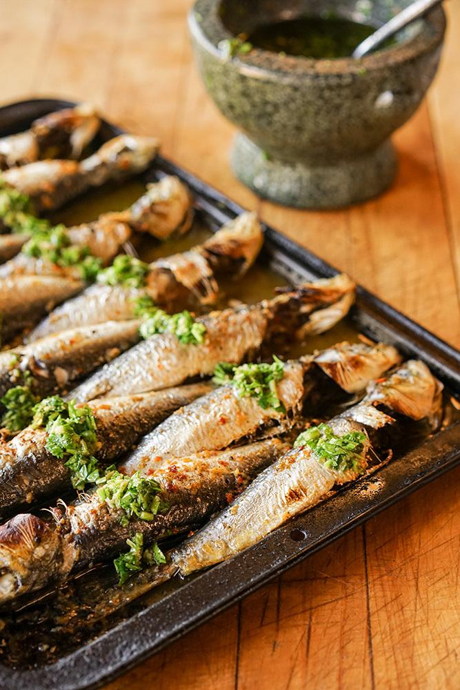 Sardines peri-peri grillées