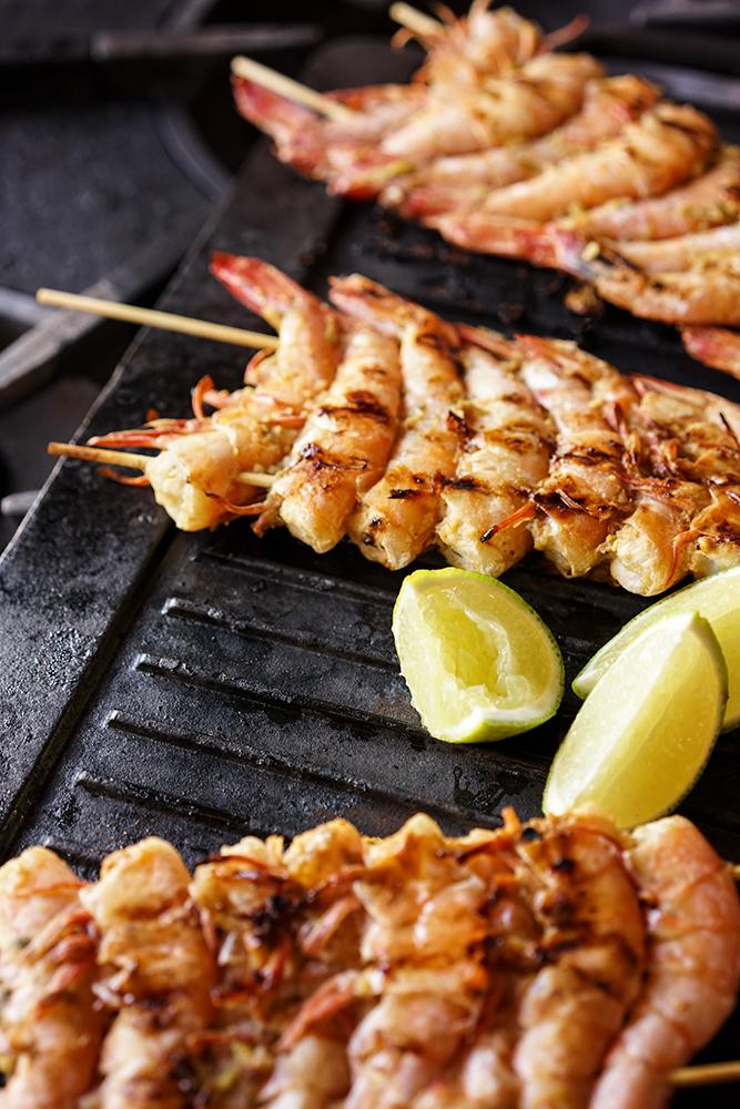 Crevettes grillées à la thaï