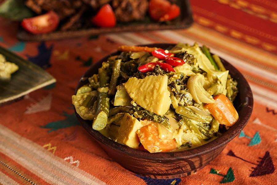 Gulai Kapau - Cari de légumes kapau