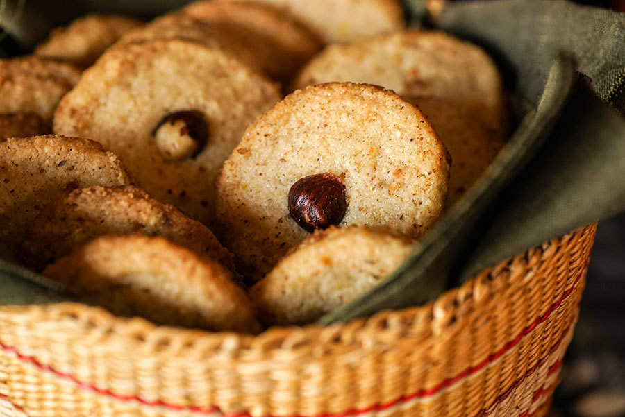 Biscuits aux noisettes et à l'orange