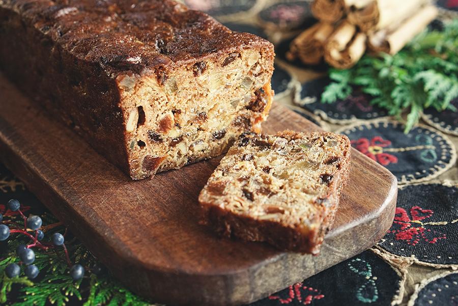 Gâteau de Noël au miel et aux fruits