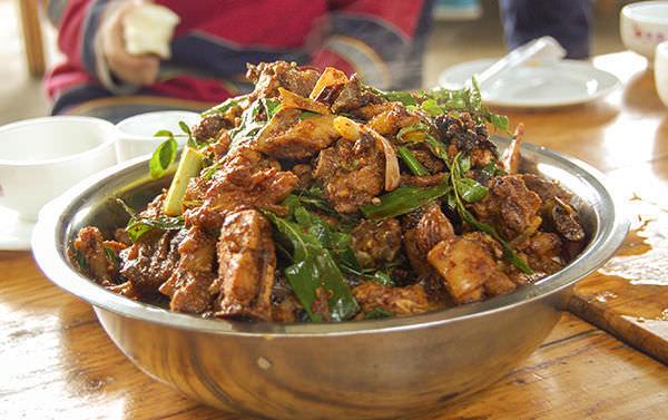 Huo Jiao Ji - Poulet au poivre de Sichuan