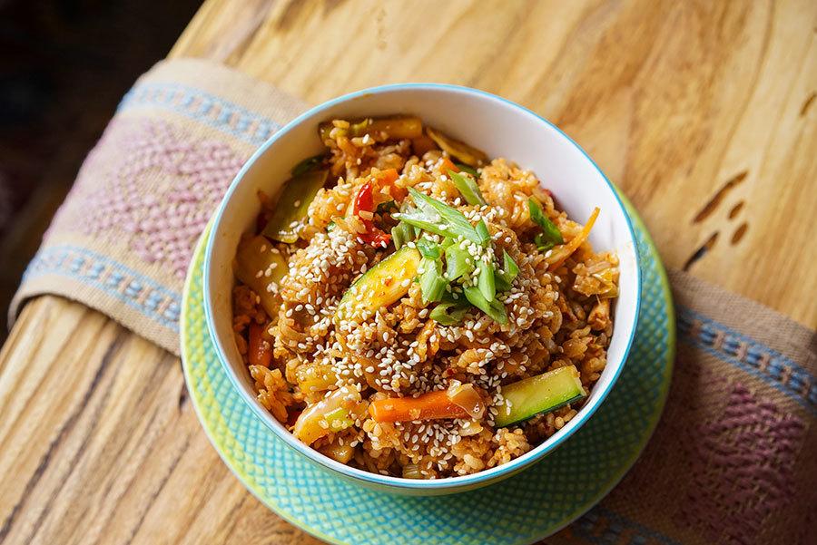 Riz frit à la coréenne