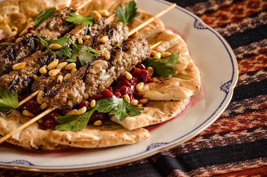 Kebab aux cerises