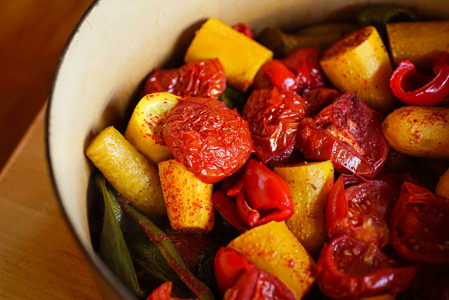 Légumes braisés à la marocaine - Tajine végétarien