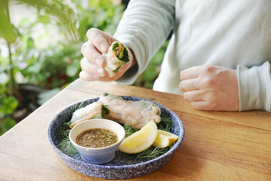 Rouleaux de printemps citronnés aux crevettes