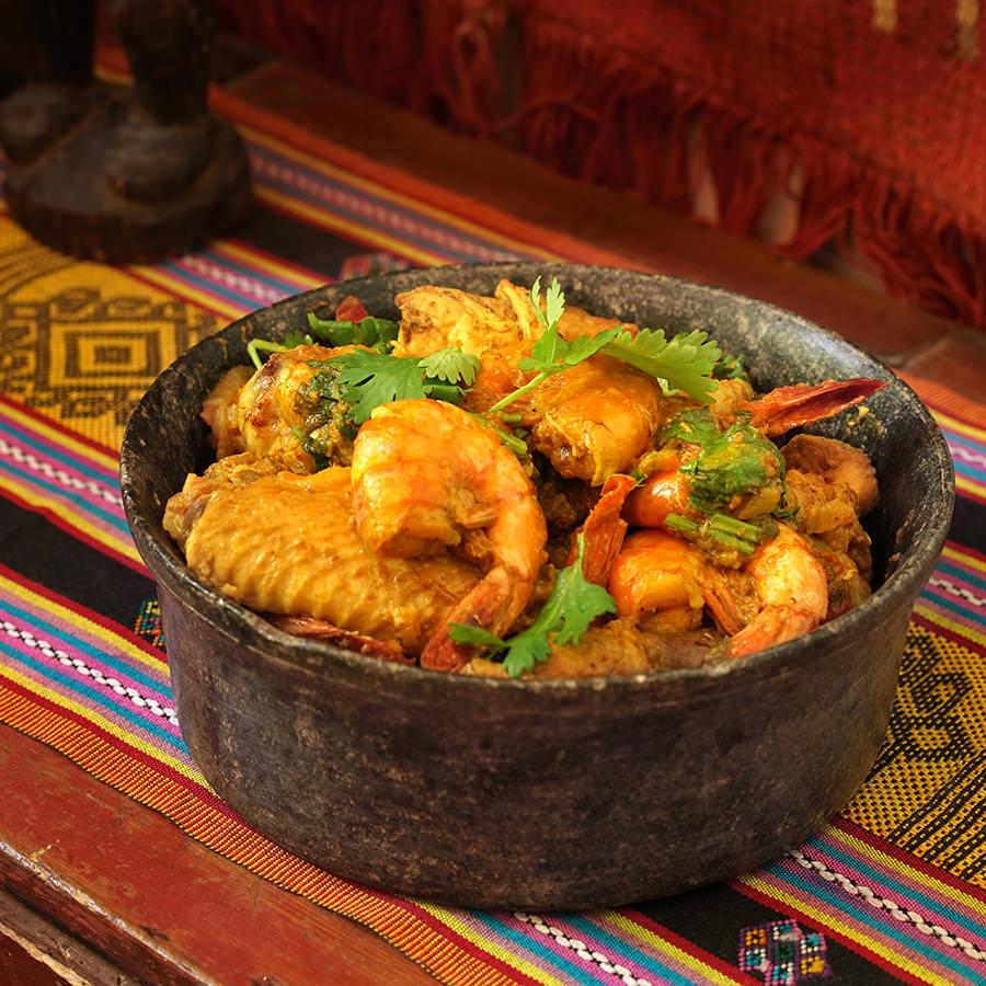 Masalé de crevettes et poulet