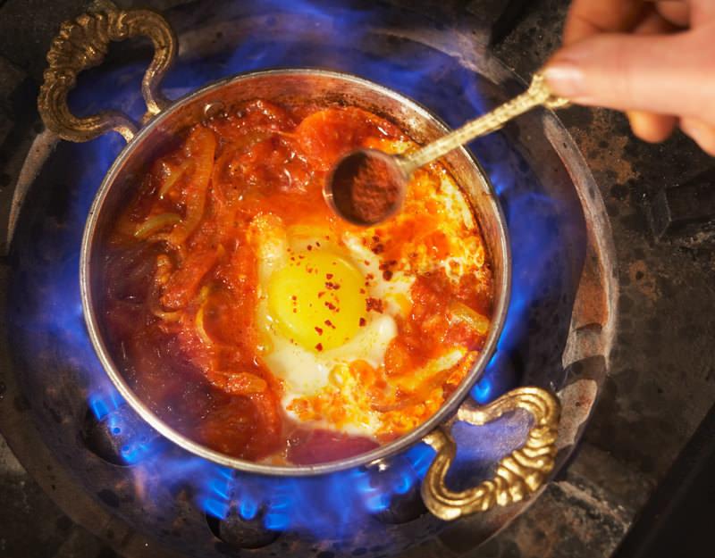 Menemen - Ragoût de légumes et d'oeuf