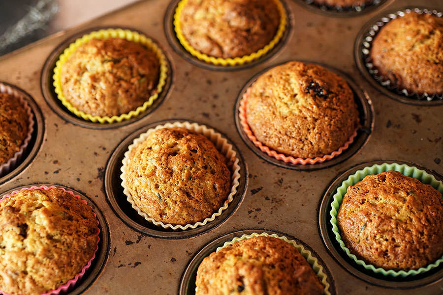Muffins pomme et courgette