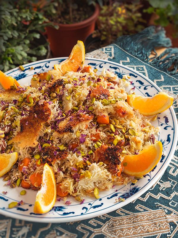 Pilaf à l'orange et aux carottes