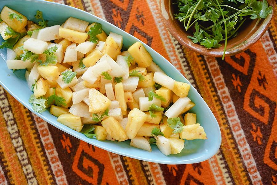 Salade de jicama et ananas