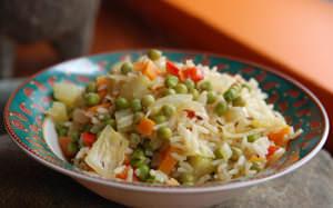 Pilaf de riz aux épices à légumes
