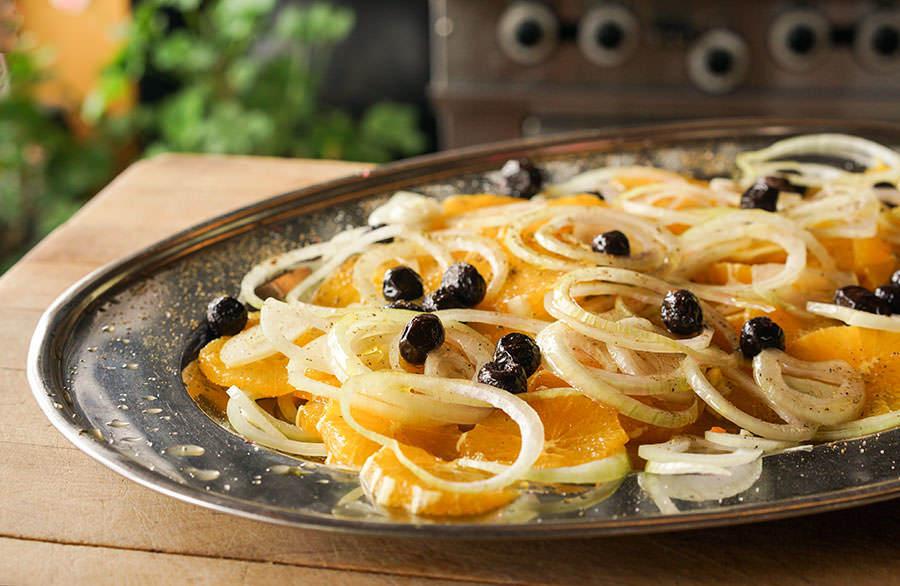Salade d'oranges et d'oignons
