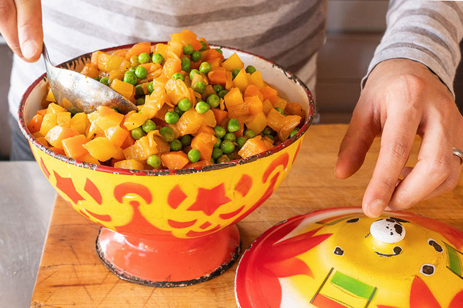 Salade de carottes confites