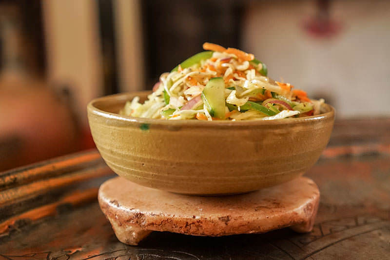 Salade de chou de Malabar