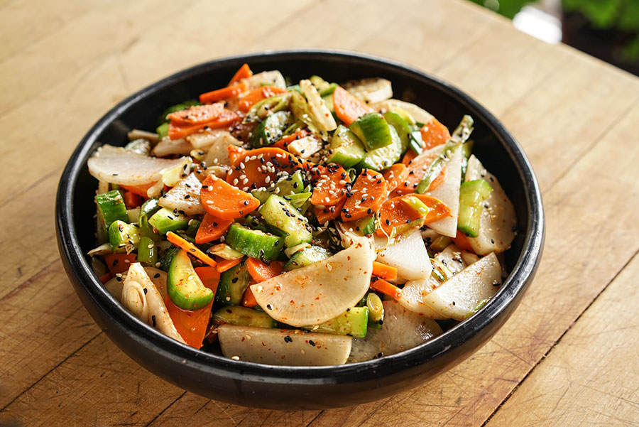 Salade De Concombres Carottes Et Daikon