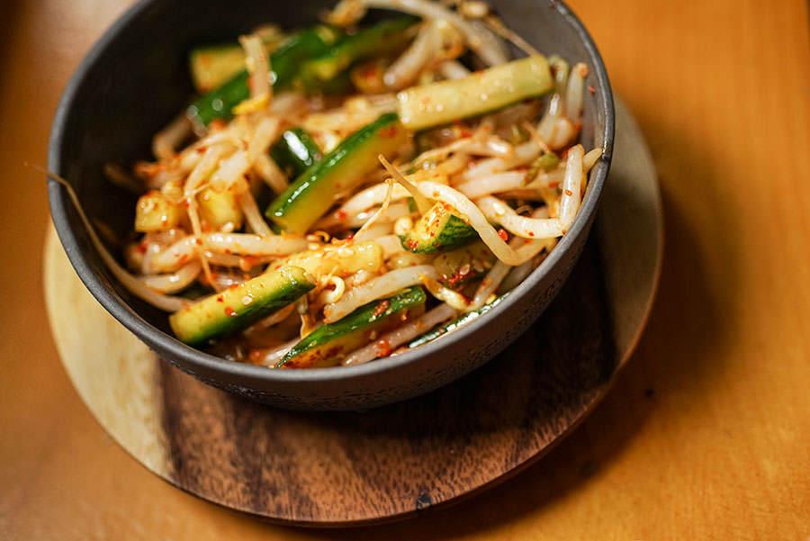 Salade coréenne de fèves germées