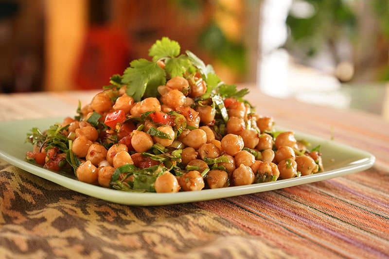 Salade de pois chiches à la mexicaine