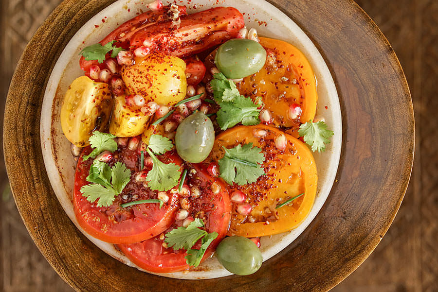 Salade De Tomates Et Grenade