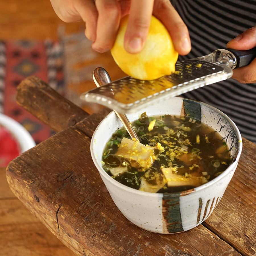 Soupe au wakamé et champignons
