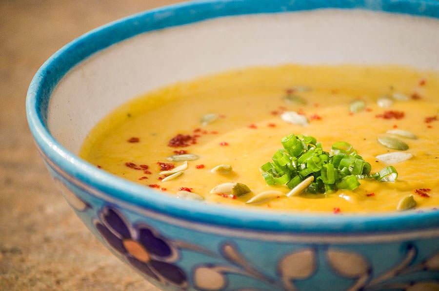 Soupe de courge aux épices d'Alep