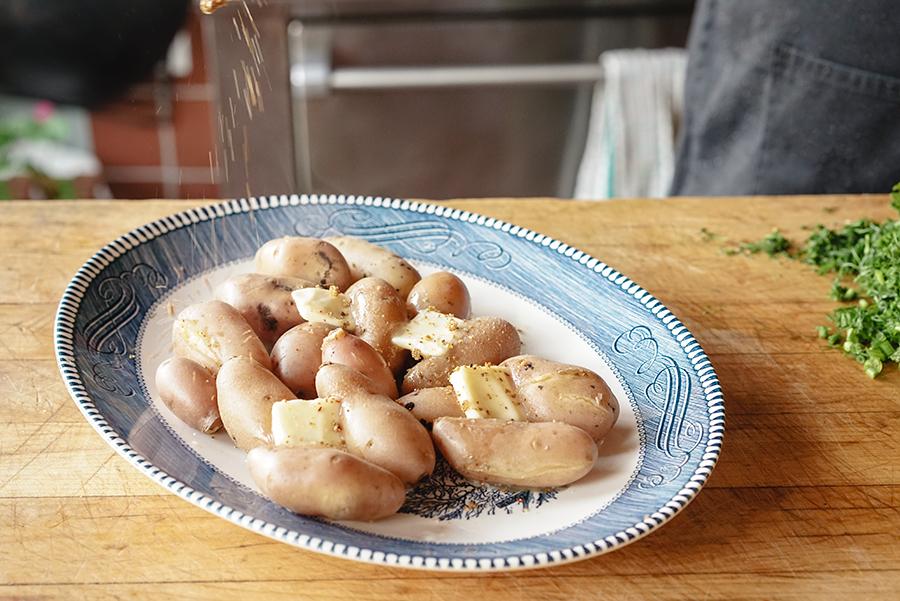 Pommes de terre au sel svanétien