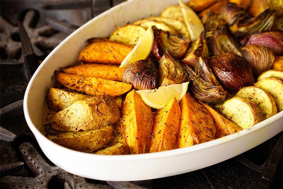 Tian de patates douces et navet au panch phoran